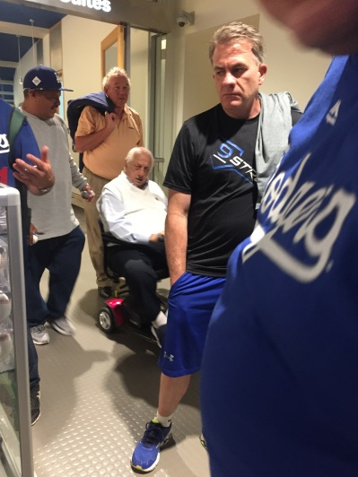 Dodger great, Tommy Lasorda on the club level at Dodger Stadium