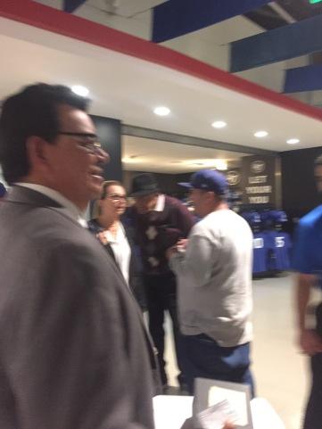 Dodger great, Fernando Valenzuela on the club level at Dodger Stadium