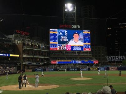 Los Angeles Dodgers VS San Diego Padres September 27th 2016