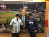 My dad and I with the man, Vin Scully!